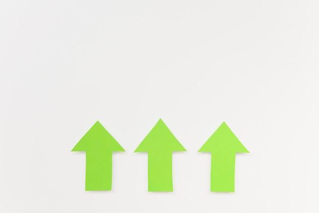 Copy-space green arrows