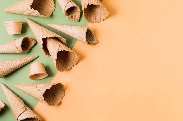 Copy-space ice cream cones