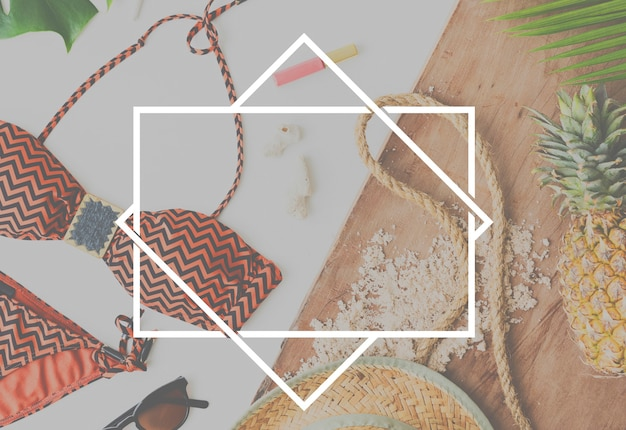 Copia-spazio etichetta logo vuoto brand design tag concept