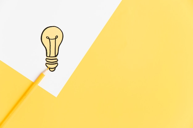 Copy-space лампочка