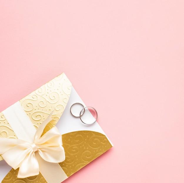 Copy space luxury wedding stationery