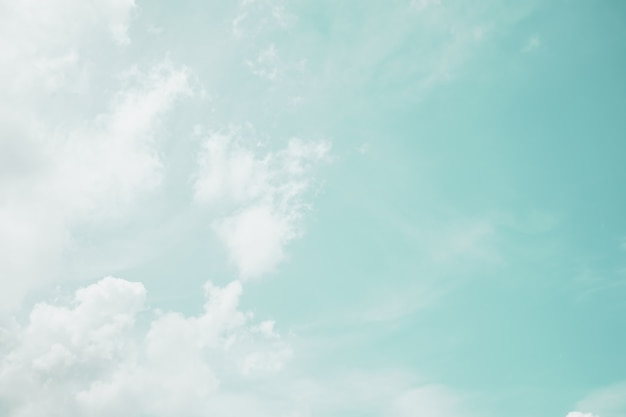 Copy space minimal concept of summer blue sky and white cloud abstract blank.