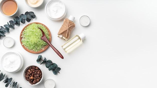 Copy-space organic cream