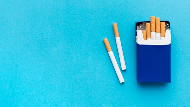 Copy-space pack of cigarettes