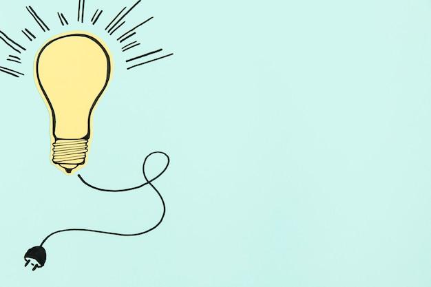 Copy-space paper ligh bulb