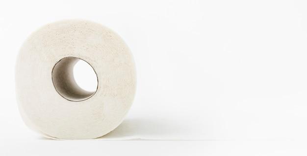 Copy-space plain toilet paper roll