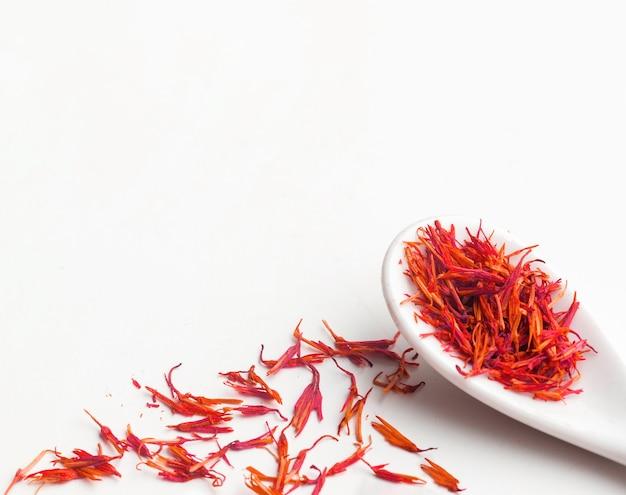 Copy-space spoon with seasoning herbs
