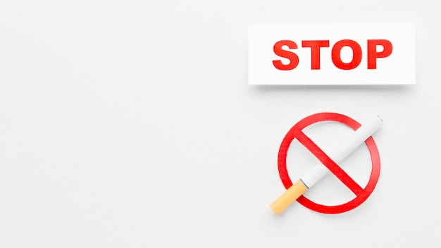 Copy-space stop smoking
