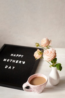 Copy-space surprise for mothers day