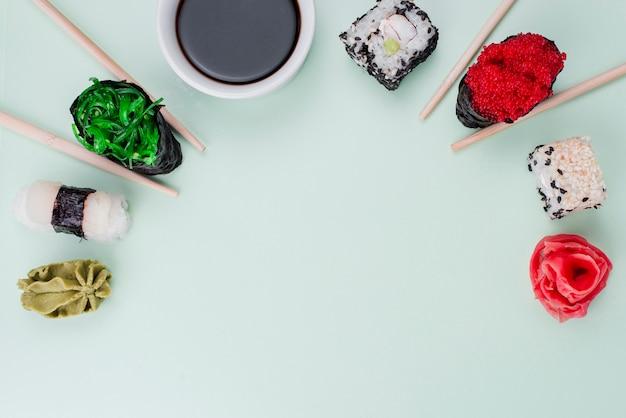 Copy-space суши день