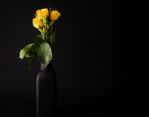 Copy-space tulips in vase