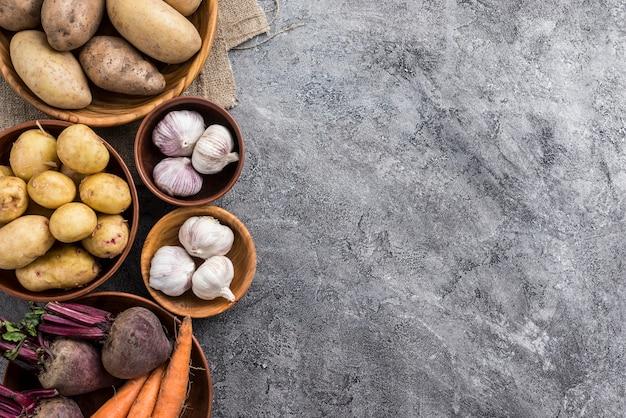 Копирование пространства овощей в мисках