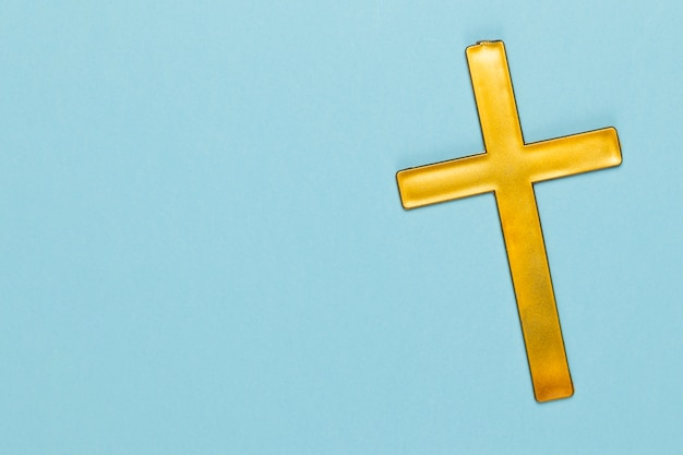 Copy-space with wooden holy cross