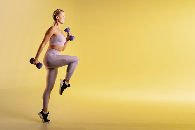 Copy-space тренировка с весами