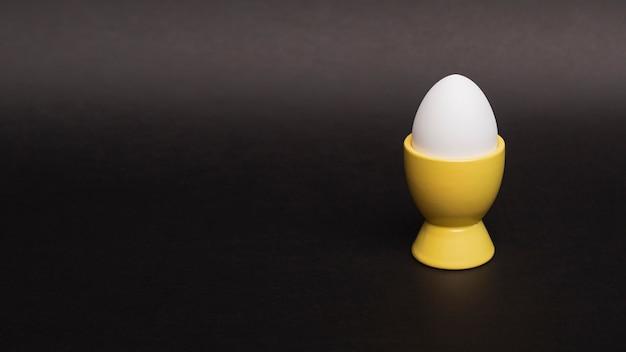 Copy-space белое яйцо в поддержку