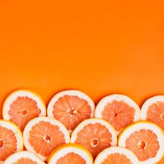 グレープフルーツの背景とcopyspace