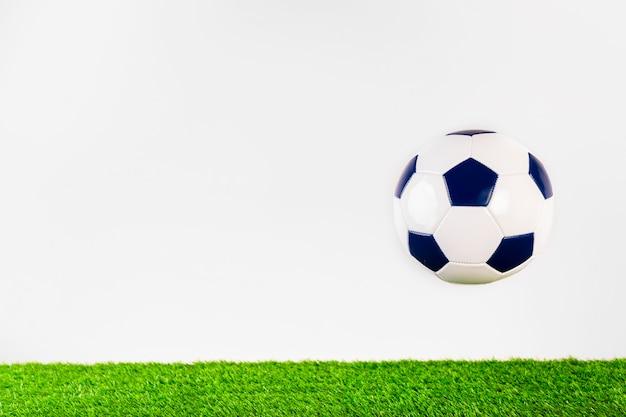 Copyspaceのあるサッカーのコンポジション