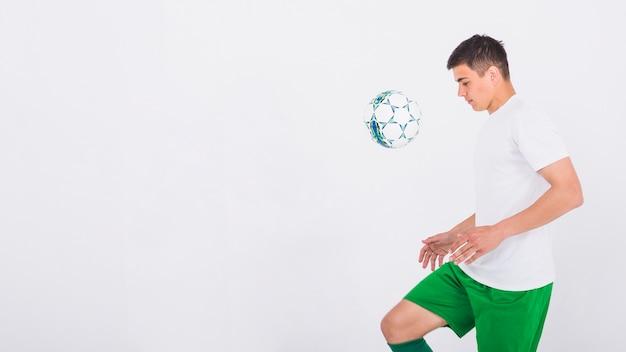 サッカー選手とcopyspace
