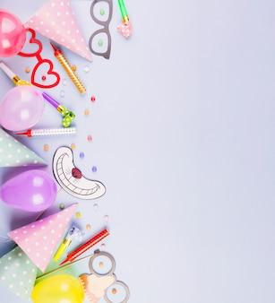 Плоская композиция на день рождения с copyspace