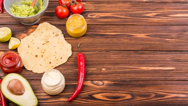Copyspaceとメキシコ料理の平干し