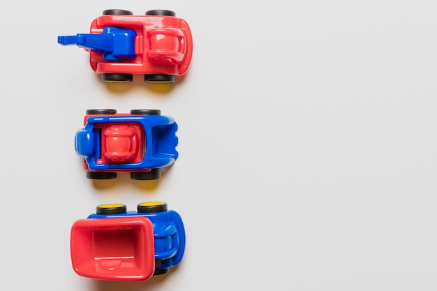 Copyspaceとおもちゃのフラットレイアウト構成