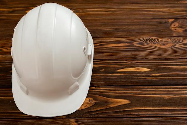 Copyspaceとフラットレイホワイト建設ヘルメット