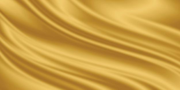Copyspaceとゴールドの高級ファブリックの背景