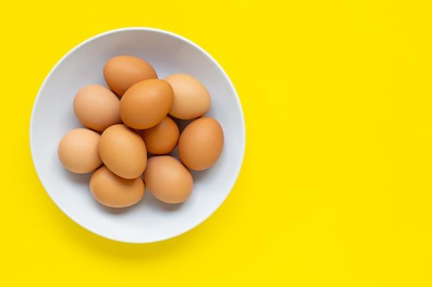 Copyspaceと卵のトップビュー