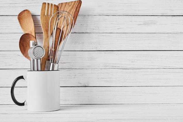 Copyspaceとセラミックカップの調理器具