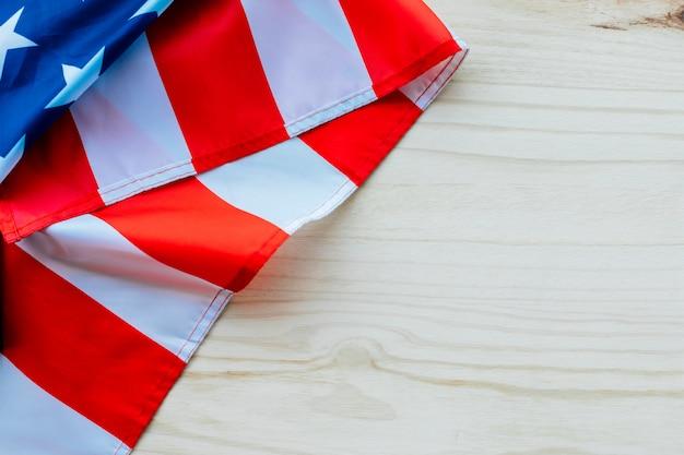 アメリカの国旗とcopyspaceの背景