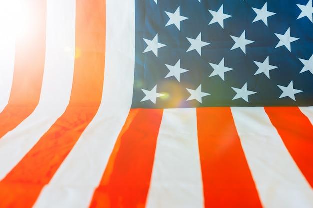 Фон с американским флагом и copyspace
