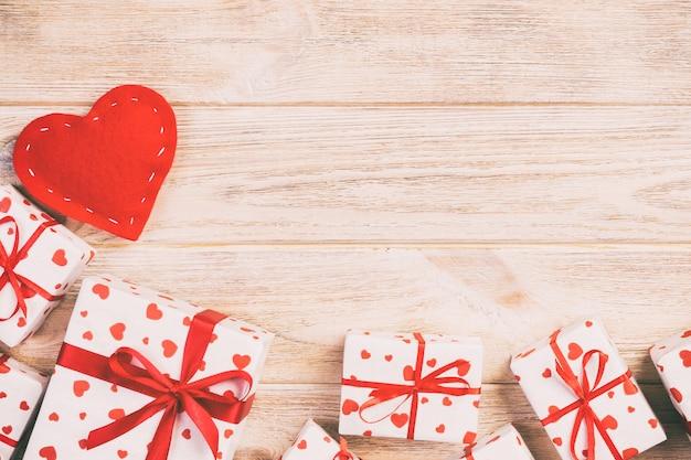 バレンタイン、ホリデーラッパー、copyspaceのギフトボックス