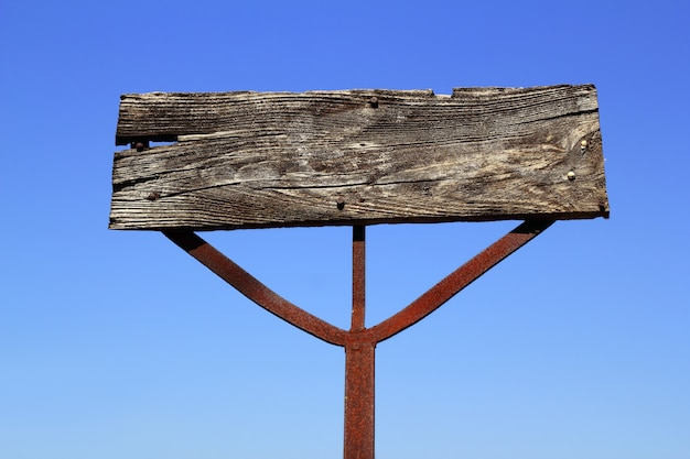 В возрасте деревянные старинные знак сигнала пустой copyspace