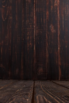 空の古い木製の背景、素朴なデザイン、垂直copyspace。