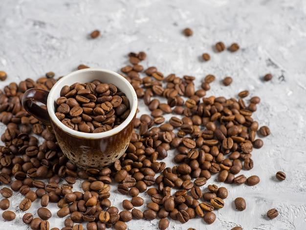 Copyspaceとコーヒー豆カップ