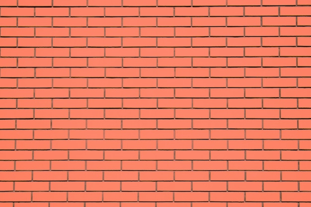 Coral brick wall background. living coral textural brick wall, color swatch