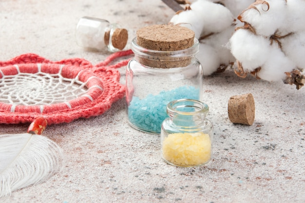 Coral dreamcatcher and bath salts