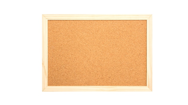 Cork board on a white background.