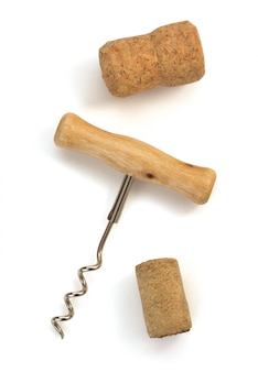 Corkscrew isolated on white