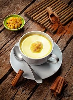 Corn atole beverage