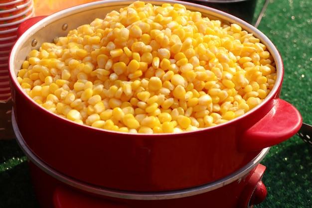 Corn bake butter steamed