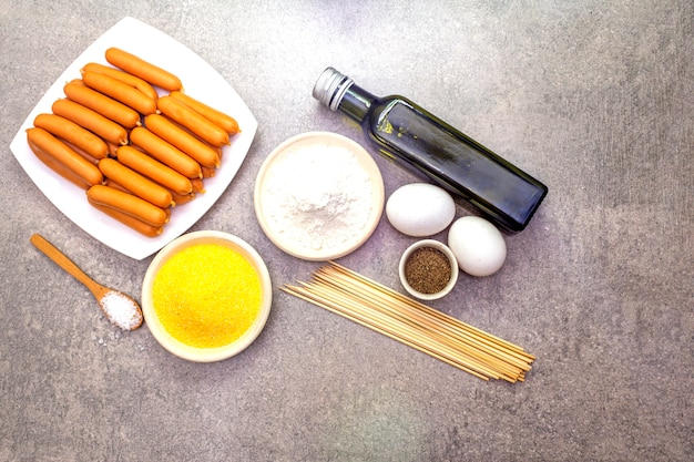 Corn dogs ingredients