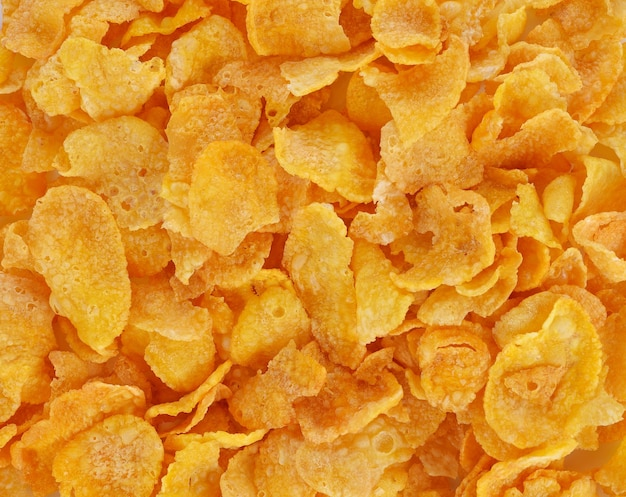 Corn-flakes background texture