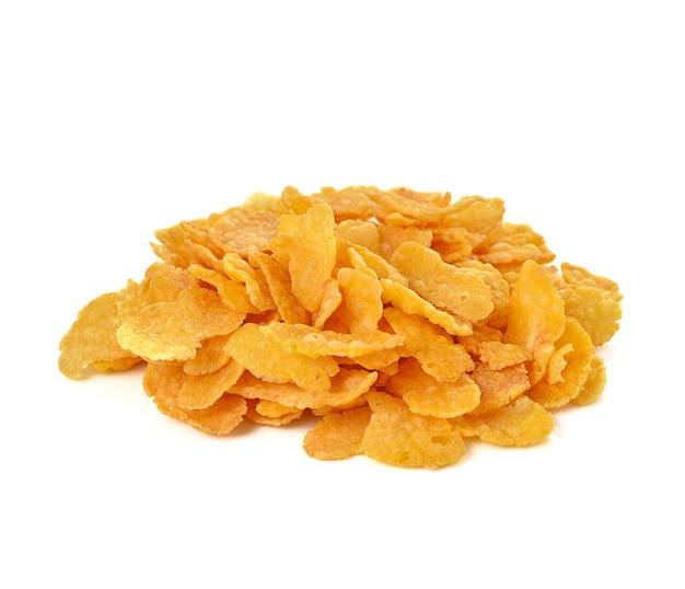 Corn flakes, cornflakes isolated on white