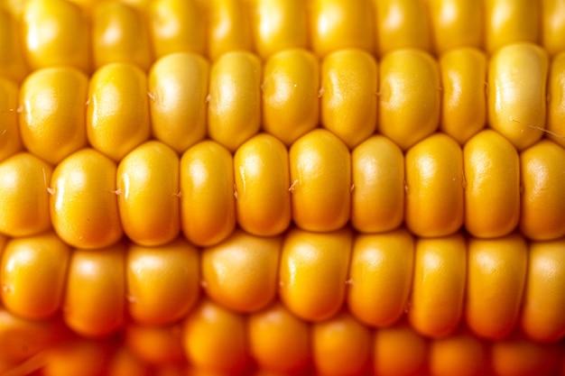 Зерна кукурузы заделывают. желтая спелая кукуруза.