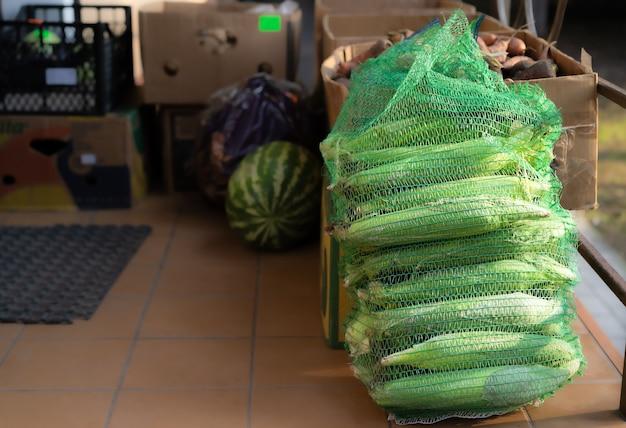 販売中のトウモロコシ