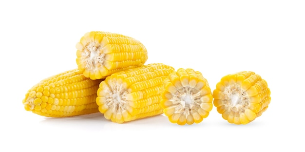 白い背景で隔離のトウモロコシ