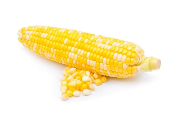 白で分離されたトウモロコシ