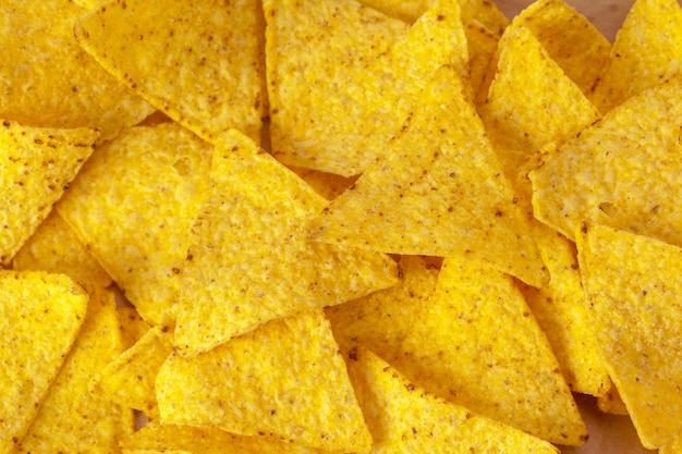 Corn nachos on white