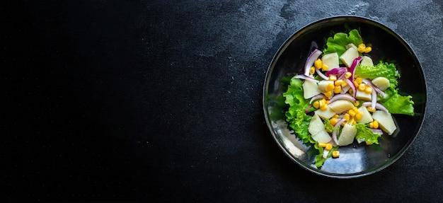 Кукурузный салат картофель с овощным салатом кето или палеодиета